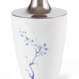 Vase, Blue orchid